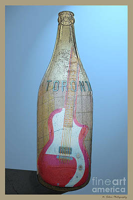 Photograph - Toronto Hard Rock Cafe Guitar In A Bottle by Nina Silver