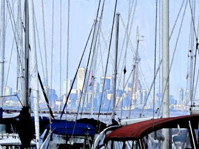 Toronto Impressions From Port Credit Art Print by Ian  MacDonald