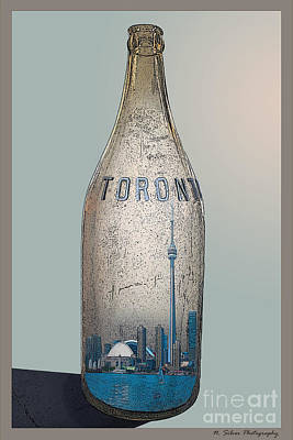 Photograph - Toronto In A Bottle by Nina Silver