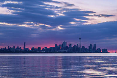 Photograph - Toronto In Fifty Shades Of Violet And Purple by Georgia Mizuleva