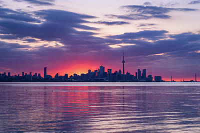 Photograph - Toronto In Fifty Shades Of Violet Pink And Purple by Georgia Mizuleva