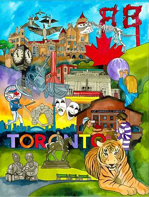 Toronto Maple Leafs Digital Art - Toronto Life by Terri Kelleher