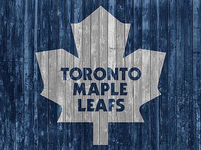 Mixed Media - Toronto Maple Leafs Barn Door by Dan Sproul