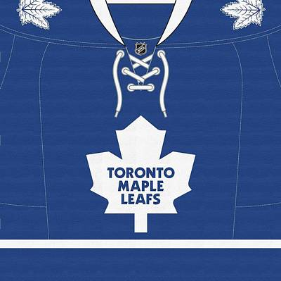 Toronto Maple Leafs Digital Art - Toronto Maple Leafs Jersey Dark by Game On Images