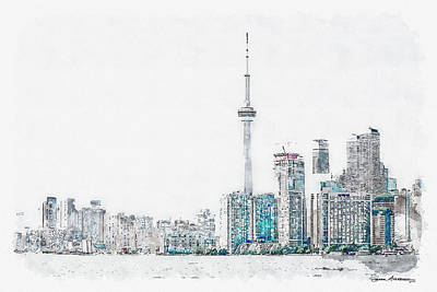Digital Art - Toronto Mornings by Serge Averbukh