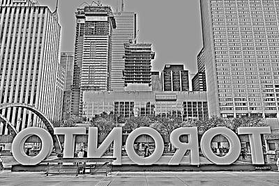 Photograph - Toronto Nathan Phillips Square by Valentino Visentini