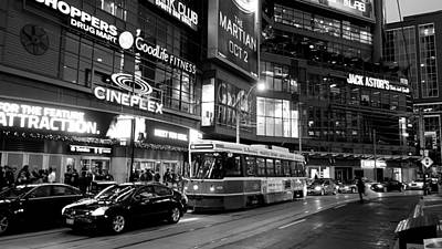 Photograph - Toronto Night Scene by Valentino Visentini