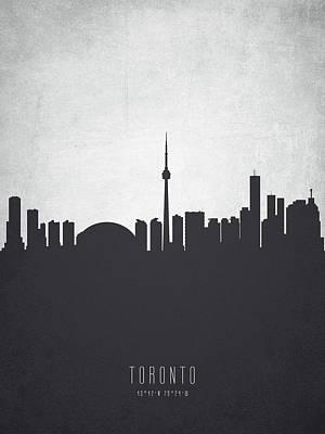 Ontario Digital Art - Toronto Ontario Cityscape 19 by Aged Pixel