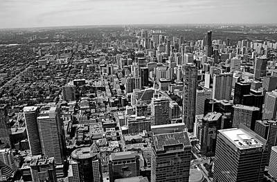 Photograph - Toronto Ontario Scrapers In Black And White by Debbie Oppermann