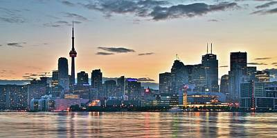 Toronto Maple Leafs Photograph - Toronto Panoramic Sunset by Frozen in Time Fine Art Photography