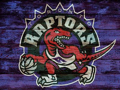 Mixed Media - Toronto Raptors Barn Door by Dan Sproul