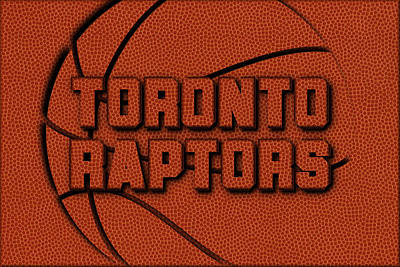 Toronto Raptors Leather Art Art Print by Joe Hamilton