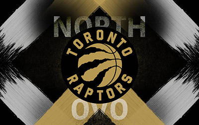 Digital Art - Toronto Raptors Ovo Artwork by Nicholas Legault