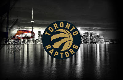 Digital Art - Toronto Raptors Ovo  by Nicholas Legault