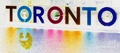 Photograph - Toronto Sign In Muted Colours by Nina Silver