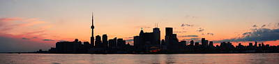 Photograph - Toronto Silhouette Panorama by Songquan Deng