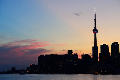 Photograph - Toronto Silhouette  by Songquan Deng
