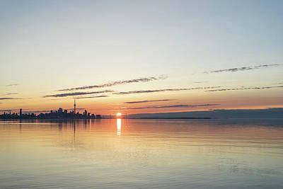 Photograph - Toronto - Silky Skyline Sunrise by Georgia Mizuleva