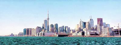Digital Art - Toronto Skyline 2017 by Leslie Montgomery