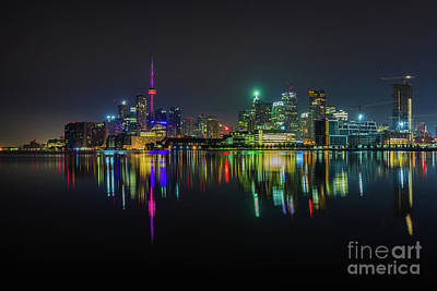 Photograph - Toronto Skyline At Night 3 by Roger Monahan