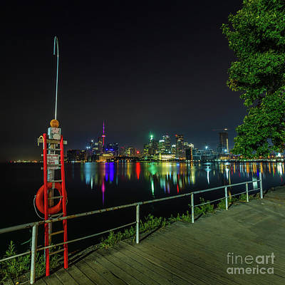 Photograph - Toronto Skyline At Night 4 by Roger Monahan
