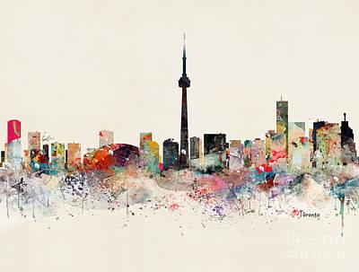Painting - Toronto Skyline by Bleu Bri