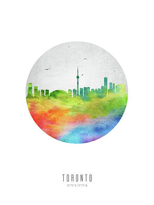 Ontario Digital Art - Toronto Skyline Caonto20 by Aged Pixel
