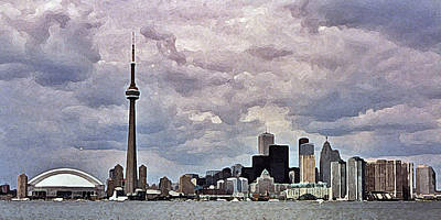 Digital Art - Toronto Skyline by Colette Panaioti