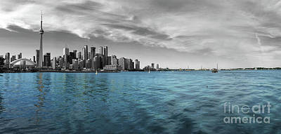 Photograph - Toronto Skyline From Hanlan's Point by Nina Silver