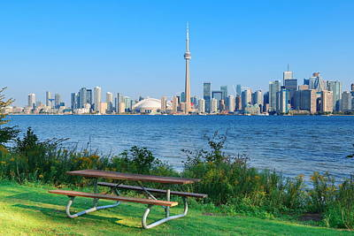 Photograph - Toronto Skyline From Park by Songquan Deng