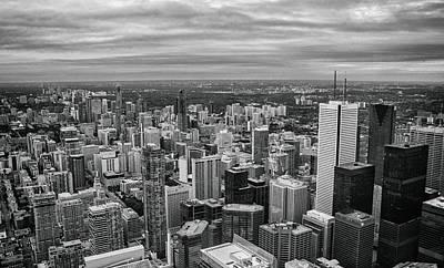 Toronto Skyline Print by Martin Newman