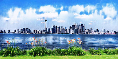 Digital Art - Toronto Skyline by Pennie McCracken