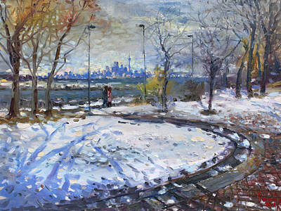 Seascape Oil Painting - Toronto Skyline by Ylli Haruni
