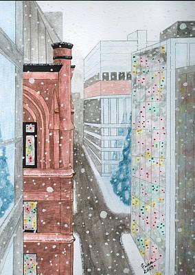 Toronto Street Scene Art Print by Fran Hoffpauir