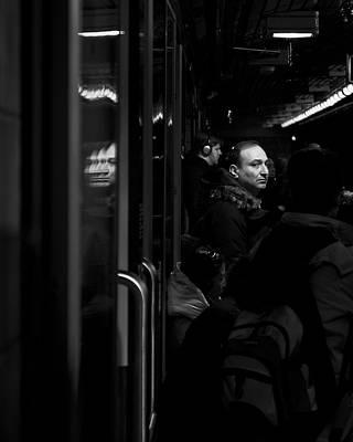 Photograph - Toronto Subway Reflection by Brian Carson