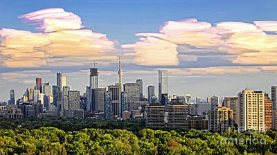 Photograph - Toronto Summer Clouds 2015 by Charline Xia