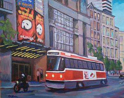 Wall Art - Painting - Toronto Theatre District by Edward Abela