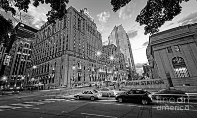 Photograph - Toronto Union Station And Fairmont Royal York Hotel by Charline Xia