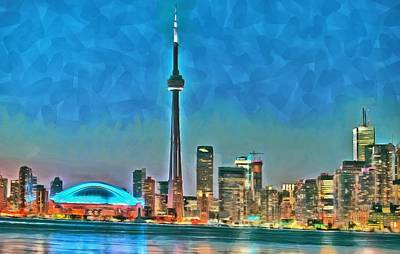 Digital Art - Toronto Waterfront Panorama by Maciek Froncisz