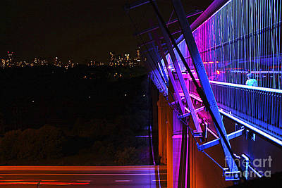 Photograph - Toronto's Luminous Veil All Lit Up In Colour  by Nina Silver