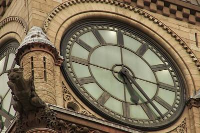 Photograph - Toronto's Old City Hall - Clock Tower  by Hany J
