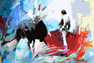 Torero Wall Art - Painting - Toroscape 35 by Miki De Goodaboom