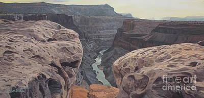 Toroweap Overlook Grand Canyon North Rim Art Print by Barbara Barber