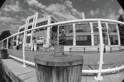 Photograph - Torpedo Factory Art Center In Black And White by John S