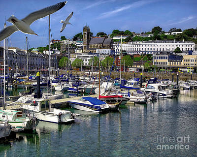 Romantic French Magazine Covers - Torquay Harbour Scene by Edmund Nagele