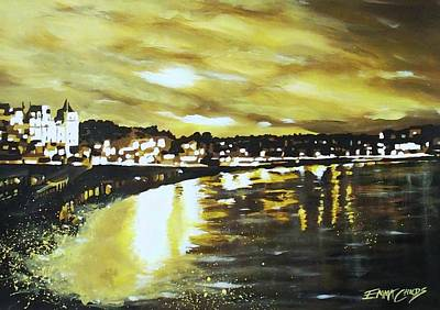 Newton Painting - Torquay Seafront At Sunset by Emma Childs