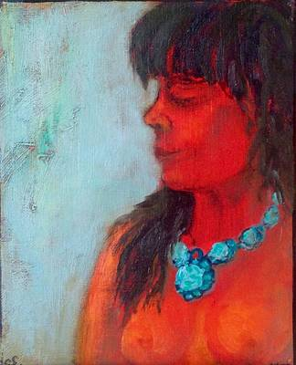 Painting - Torquiose Necklace by Sally Fraser