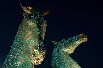 Photograph - Torquise Kelpies At Night by Stephen Taylor