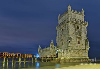 Photograph - Torre De Belem At Night In Lisbon by Angelo DeVal