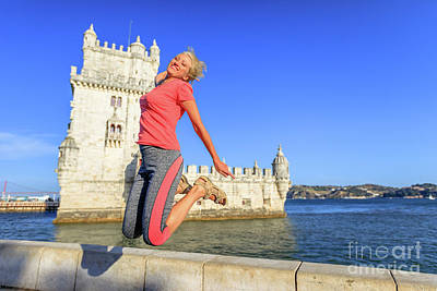 Photograph - Torre De Belem Jumping by Benny Marty